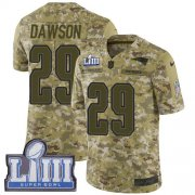Wholesale Cheap Nike Patriots #29 Duke Dawson Camo Super Bowl LIII Bound Youth Stitched NFL Limited 2018 Salute to Service Jersey