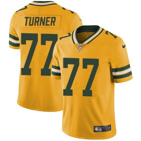Wholesale Cheap Nike Packers #77 Billy Turner Yellow Men\'s Stitched NFL Limited Rush Jersey