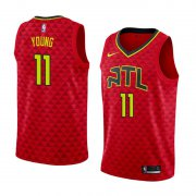 Wholesale Cheap Men's Nba Atlanta Hawks #11 Trae Young Red Nike Statement Edition Jersey