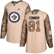 Wholesale Cheap Adidas Jets #81 Kyle Connor Camo Authentic 2017 Veterans Day Stitched NHL Jersey