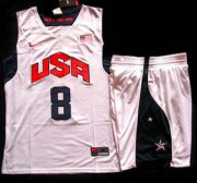 Wholesale Cheap 2012 Olympic USA Team #8 Deron Williams White Basketball Jerseys & Shorts Suit