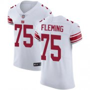 Wholesale Cheap Nike Giants #75 Cameron Fleming White Men's Stitched NFL New Elite Jersey