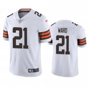 Wholesale Cheap Cleveland Browns #21 Denzel Ward Men's Nike White 2020 Vapor Limited Jersey