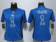 Wholesale Cheap Nike Colts #1 Pat McAfee Royal Blue Team Color Women's Stitched NFL Elite Strobe Jersey