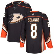 Wholesale Cheap Adidas Ducks #8 Teemu Selanne Black Home Authentic Youth Stitched NHL Jersey
