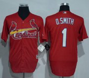 Wholesale Cheap Cardinals #1 Ozzie Smith Red New Cool Base Stitched MLB Jersey