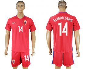 Wholesale Cheap Norway #14 Elabdellaoui Home Soccer Country Jersey