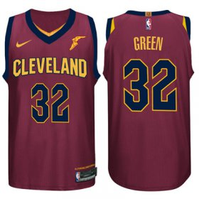 Wholesale Cheap Nike NBA Cleveland Cavaliers #32 Jeff Green Jersey 2017-18 New Season Wine Red Jersey