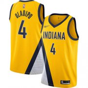Wholesale Cheap Pacers #4 Victor Oladipo Gold Basketball Swingman Statement Edition 2019-2020 Jersey
