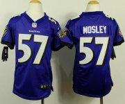 Wholesale Cheap Nike Ravens #57 C.J. Mosley Purple Team Color Youth Stitched NFL New Elite Jersey