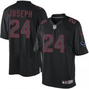 Wholesale Cheap Nike Texans #24 Johnathan Joseph Black Men's Stitched NFL Impact Limited Jersey