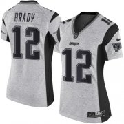 Wholesale Cheap Nike Patriots #12 Tom Brady Gray Women's Stitched NFL Limited Gridiron Gray II Jersey