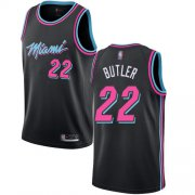 Wholesale Cheap Heat #22 Jimmy Butler Black Basketball Swingman City Edition 2018-19 Jersey