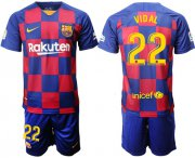 Wholesale Cheap Barcelona #22 Vidal Home Soccer Club Jersey