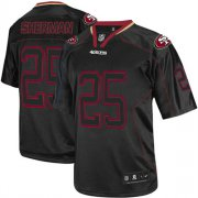 Wholesale Cheap Nike 49ers #25 Richard Sherman Lights Out Black Men's Stitched NFL Elite Jersey