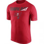 Wholesale Cheap Men's Tampa Bay Buccaneers Nike Red Legend Staff Practice Performance T-Shirt