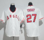 Wholesale Angels #27 Mike Trout White Cool Base Stitched Youth Baseball Jersey