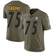 Wholesale Cheap Nike Steelers #75 Joe Greene Olive Youth Stitched NFL Limited 2017 Salute to Service Jersey