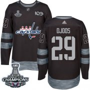 Wholesale Cheap Adidas Capitals #29 Christian Djoos Black 1917-2017 100th Anniversary Stanley Cup Final Champions Stitched NHL Jersey