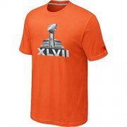 Wholesale Cheap NFL Super Bowl XLVII Logo T-Shirt Orange