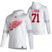 Wholesale Cheap Detroit Red Wings #71 Dylan Larkin Adidas Reverse Retro Pullover Hoodie White
