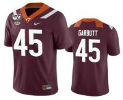 Wholesale Cheap Men's Virginia Tech Hokies #45 TyJuan Garbutt Maroon 150th College Football Nike Jersey