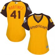 Wholesale Cheap Tigers #41 Victor Martinez Gold 2016 All-Star American League Women's Stitched MLB Jersey