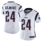 Wholesale Cheap Nike Patriots #24 Stephon Gilmore White Women's Stitched NFL Vapor Untouchable Limited Jersey