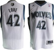 Wholesale Cheap Minnesota Timberwolves #42 Kevin Love Revolution 30 Swingman White Jersey
