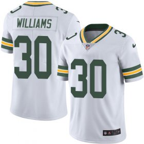 Wholesale Cheap Nike Packers #30 Jamaal Williams White Men\'s Stitched NFL Vapor Untouchable Limited Jersey