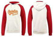 Wholesale Cheap Baltimore Orioles Pullover Hoodie White & Red
