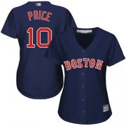 Wholesale Cheap Red Sox #10 David Price Navy Blue Alternate Women's Stitched MLB Jersey