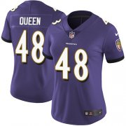 Wholesale Cheap Nike Ravens #48 Patrick Queen Purple Team Color Women's Stitched NFL Vapor Untouchable Limited Jersey