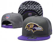 Wholesale Cheap Ravens Team Logo Gray Purple Adjustable Hat TX