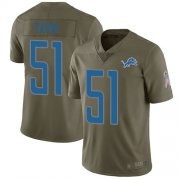 Wholesale Cheap Nike Lions #51 Jahlani Tavai Olive Men's Stitched NFL Limited 2017 Salute To Service Jersey