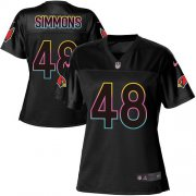 Wholesale Cheap Nike Cardinals #48 Isaiah Simmons Black Women's NFL Fashion Game Jersey