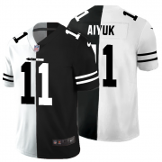 Cheap San Francisco 49ers #11 Brandon Aiyuk Men's Black V White Peace Split Nike Vapor Untouchable Limited NFL Jersey