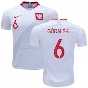 Wholesale Cheap Poland #6 Goralski Home Soccer Country Jersey