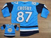 Wholesale Cheap Penguins #87 Sidney Crosby Stitched Baby Blue 2011 Winter Classic Vintage NHL Jersey