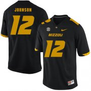 Wholesale Cheap Missouri Tigers 12 Johnathon Johnson Black Nike College Football Jersey