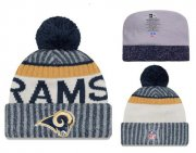 Wholesale Cheap NFL Los Angeles Rams Logo Stitched Knit Beanies 002