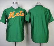 Wholesale Cheap Mitchell And Ness Mets Blank Green Throwback Stitched MLB Jersey