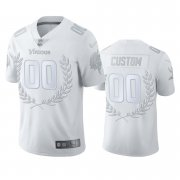Wholesale Cheap Minnesota Vikings Custom Men's Nike Platinum NFL MVP Limited Edition Jersey