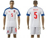 Wholesale Cheap Czech #5 Kalas Away Soccer Country Jersey