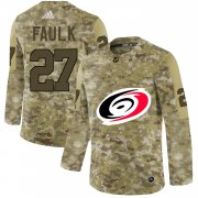 Wholesale Cheap Adidas Hurricanes #27 Justin Faulk Camo Authentic Stitched NHL Jersey