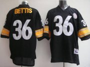 Wholesale Cheap Mitchell & Ness Steelers #36 Jerome Bettis Black Stitched Throwback NFL Jersey
