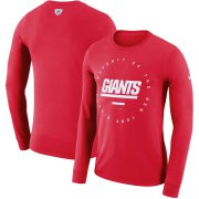 Wholesale Cheap New York Giants Nike Property Of Sideline Performance Long Sleeve T-Shirt Red