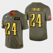 Wholesale Cheap Philadelphia Eagles #24 Jordan Howard Men's Nike Olive Gold 2019 Salute to Service Limited NFL 100 Jersey
