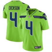 Wholesale Cheap Nike Seahawks #4 Michael Dickson Green Men's Stitched NFL Limited Rush Jersey