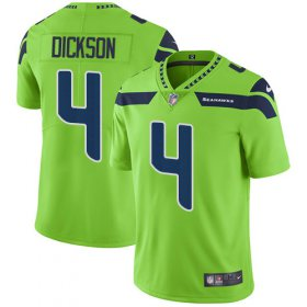 Wholesale Cheap Nike Seahawks #4 Michael Dickson Green Men\'s Stitched NFL Limited Rush Jersey